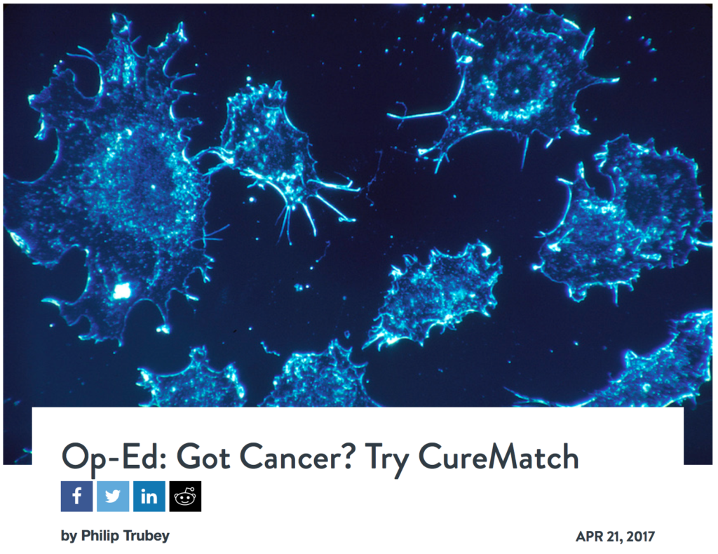 "CureMatch featured in Rancho Santa Fe Post op-ed ""Got Cancer? Try CureMatch"""