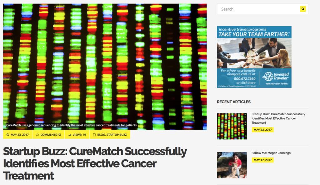 CureMatch Case Study Featured in Hatch Magazine